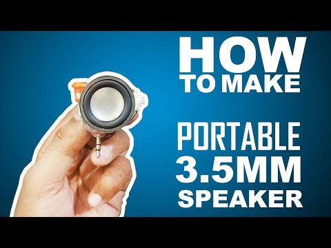 How To Make 3.5mm Rechargeable Mini Portable Speaker - Easy Way