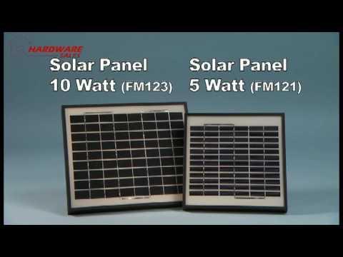 Mighty Mule FM121 / FM123 Gate Opening 5 Watt / 10 Watt Solar Panel Kit