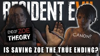 RESIDENT EVIL 7 Which Ending Is Canon? Choose Mia or Choose Zoe? | RE7 End Of Zoe Theory