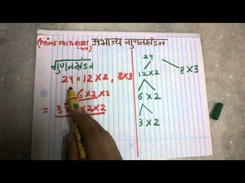 PRIME FACTORIZATION CLASS 6 (HINDI)