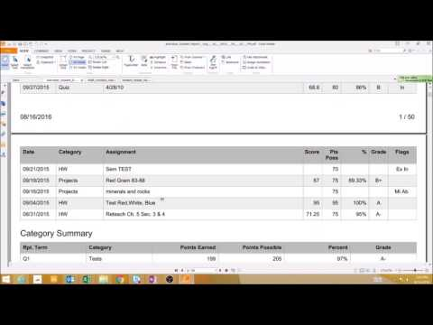 PowerTeacher Pro - How Do I Use the Individual Student Report?