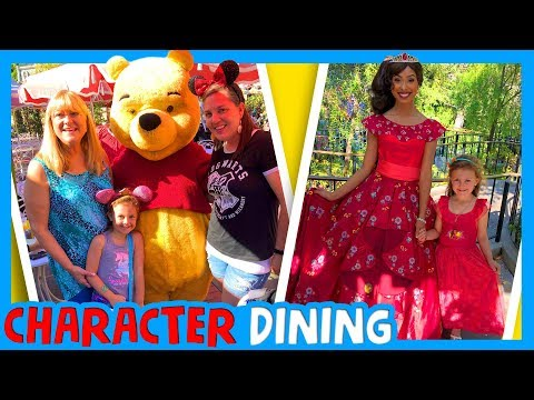 🎢 DISNEYLAND CHARACTER DINING 🥘 Best Things To Do At Disneyland with a Family
