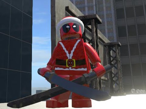 LEGO Marvel Superheroes - SANTA DEADPOOL 2 & COPTER FREE ROAM GAMEPLAY (MOD SHOWCASE)