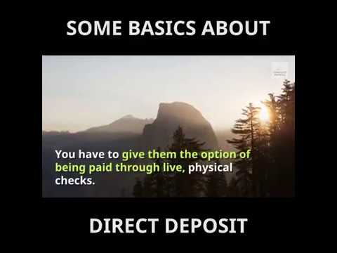 Some basics about setting up direct deposit | Complete Payroll