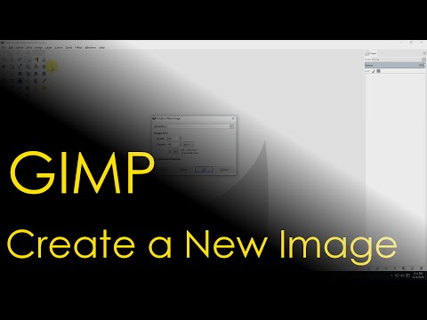GIMP Create New Image