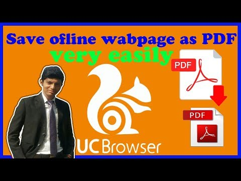How to download/save offline webpage as pdf in uc browser