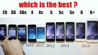 Comparison of all Iphones iPhone 6 Plus vs 6 vs 5S vs 5c vs 5 vs 4s vs 4 vs 3Gs vs 3G vs 2g