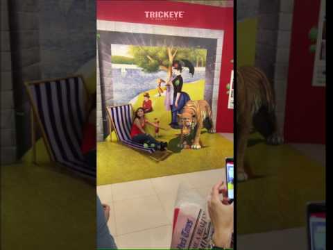Augmented Reality Tiger, Trick Eye Museum Singapore