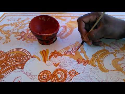 kerala mural painting for beginners
