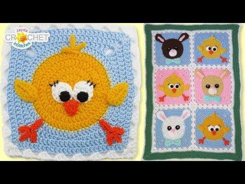 Chick & Bunny Baby Blanket Crochet Tutorial - Super Cute Kids Decor!