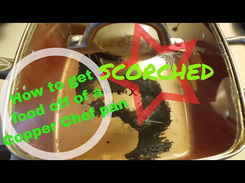 🌡😬How to get scorched food off of a #CopperChef pan😱