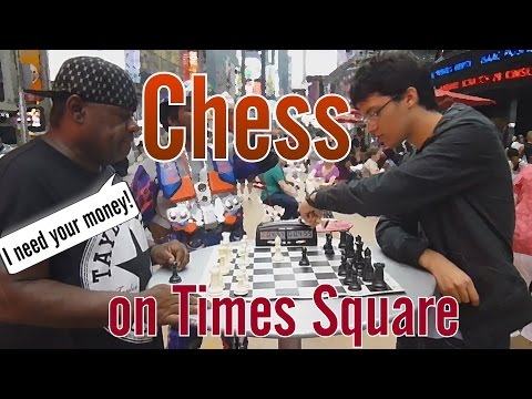 Blitz Chess on the Time Square, New York City ( NYC )