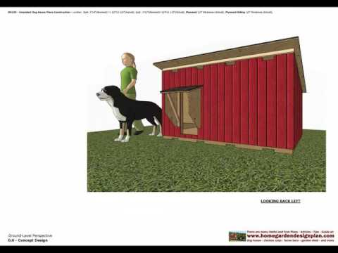 DH100 - Insulated Dog House Plans - Dog House Design - How To Build An Insulated Dog House