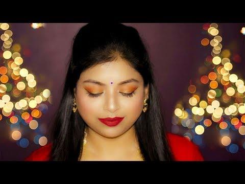 Poila Baishakh Makeup Step By Step Tutorial For Beginners | How To Do Bengali Makeup | Indian Makeup