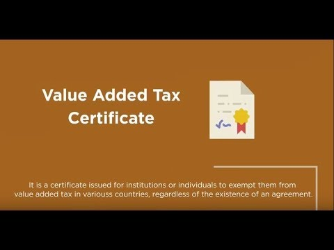 التطبيق لضريبة القيمة المضافة وشهادة ضريبة الإقامة  | App for VAT and Tax Domicile Certificate