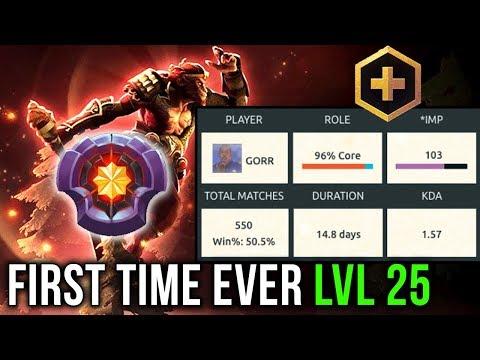 DotaPlus First Ever Level 25 - GORR reached MASTER Relic on Monkey King! Dota 2