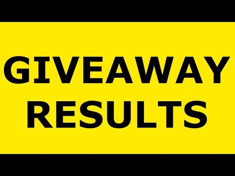 1K SUBSCRIBERS GIVEAWAY RESULTS