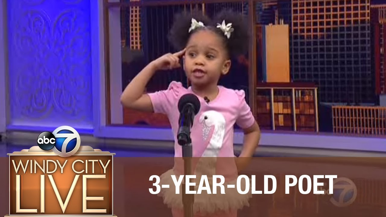3-year-old blows away audience with poem for Black History Month!