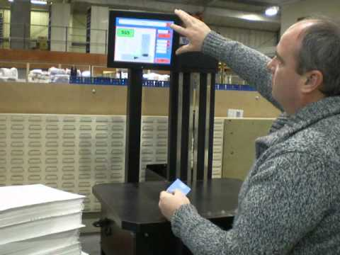 Optical counter - Vacuumatic Count-S - Optical counting demonstration counting ballot papers