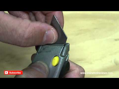 How To Change Blades in a Stanley 10-788 Utility Knife - OnlineToolReviews