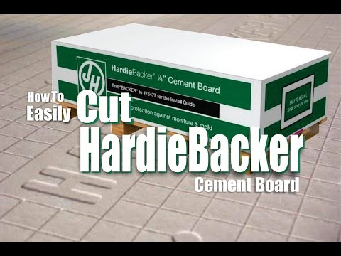 How to Easily Cut Hardiebacker Cement Board DIY