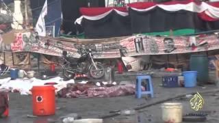 """""""تحت المنصة"""" وثائقي للجزيرة يفضح جرائم الانقلاب العسكري و مجزرة رابعة العدوية في مصر 2013 - Egypt"""