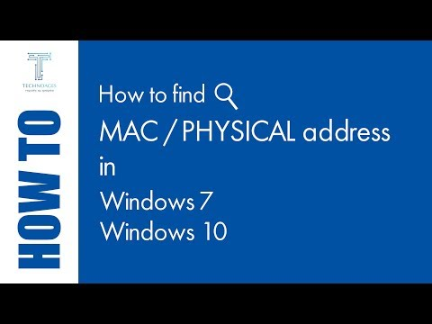How to find mac or physical address in Windows 7/10