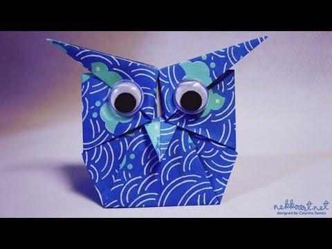 How to fold: Origami Owl by Shoko Aoyagi