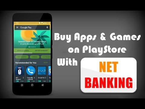 #DA53 How To Buy Apps & Games on Playstore With Net Banking