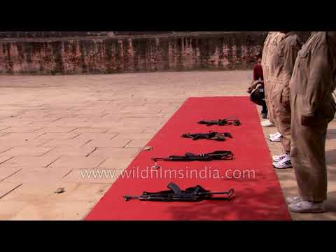 Target shooting training at Delhi Police Training College