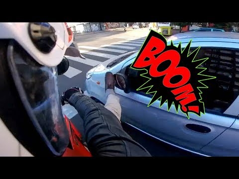SMASHED MIRRORS | CRAZY ANGRY PEOPLE vs BIKERS |  [Ep. #153]