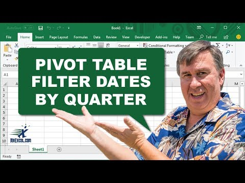 Learn Excel - Filter Pivot Table Daily Dates by Quarter - Podcast 2200