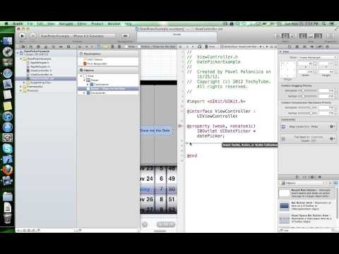 How to create a UIDatePicker in iOS