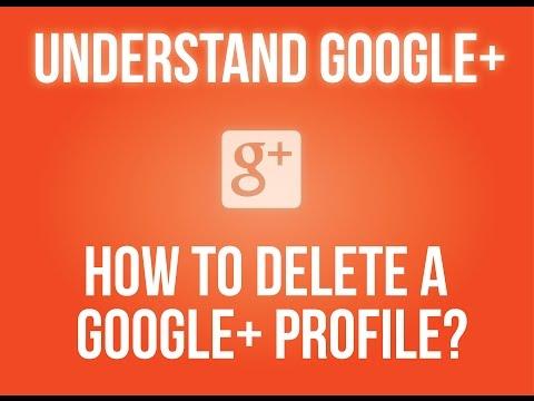 How to delete a Google+ profile?