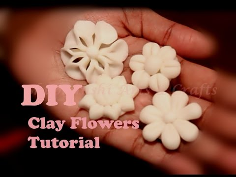 DIY : Clay flowers for beginners - Tutorial -1 | first 4 easy Clay flowers