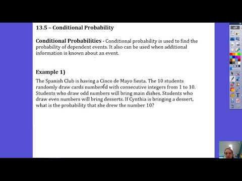13.5 Conditional Probability Part 1