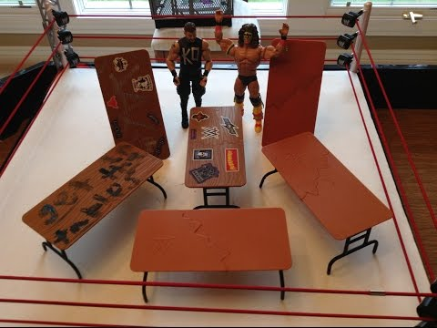 TABLES with WWE Action figures