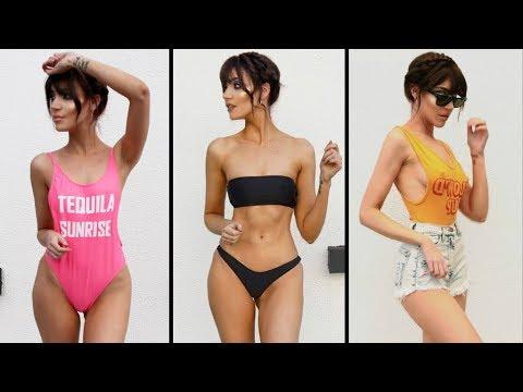 Fashion Nova Try On Clothing Haul | Bikinis, Bodysuits, Jeans, Dresses | STEPHANIE LANGE