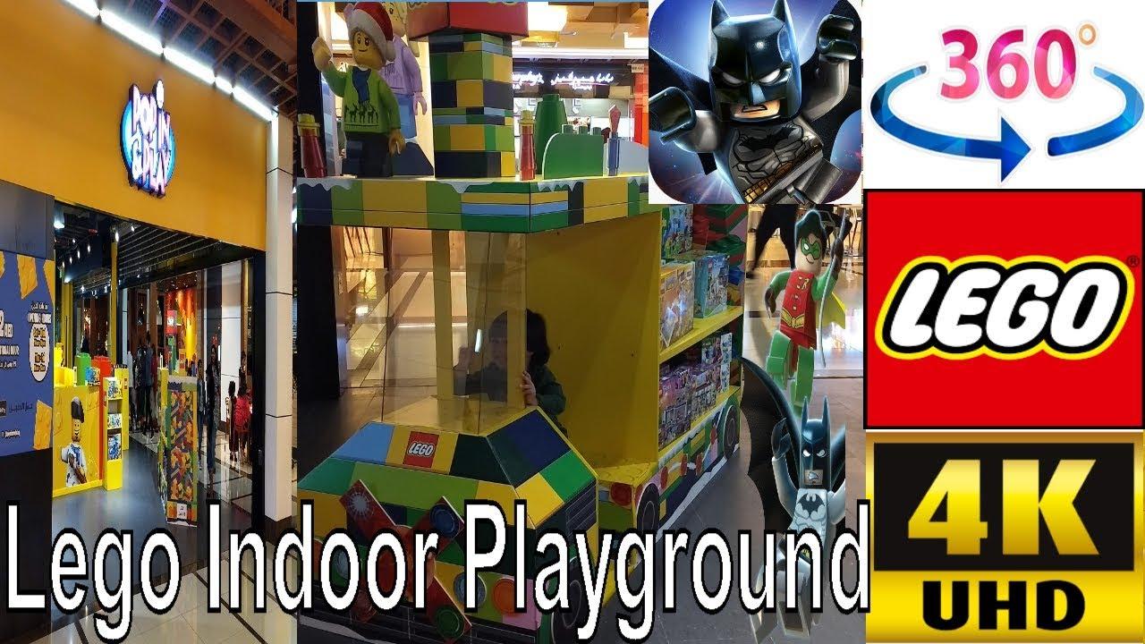 360 video | GIANT LEGO World's biggest indoor playground | LegoLand | Lego House Creations Toys | P2