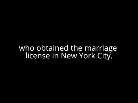 marriage certificate nyc