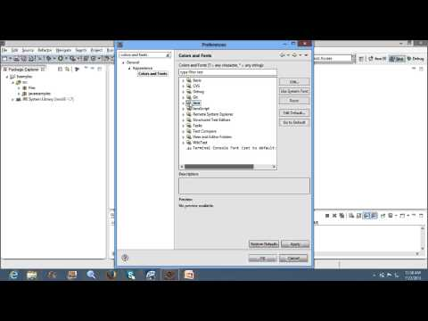 Eclipse Tutorials:How to change font size and font colour in eclipse