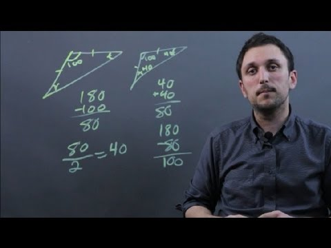 How to Find the Two Missing Angles in an Isosceles Triangle : Math & Geometry Tips