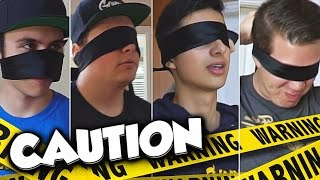 DANGEROUS BLINDFOLD CHALLENGE AT THE NEW TK HOUSE!