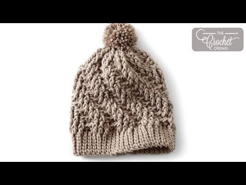 How to Crochet A Hat: Stepping Texture Hat
