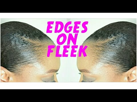 SLICKED BACK EDGES on OLD STRAIGHT HAIR ft. Mizani Edge Taming Gel   THE CURLY CLOSET