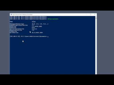 How To Check Installed PowerShell Version On Windows Nano Server 2016 720HD