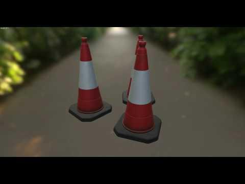 Traffic Cones Turntable 01