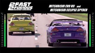 2 Fast 2 Furious: Engine Sounds - Evo & Spyder