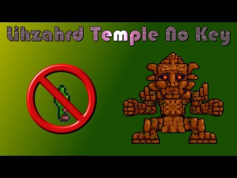 Terraria Tutorial | How To Get Into The Lihzahrd Temple No Key!