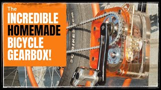 How This GENIUS Made A Bicycle Gearbox Using Recycled Bike Parts